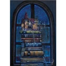 Открытка с конвертом Книжный замок