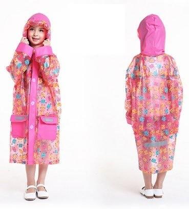 Детский розовый дождевик