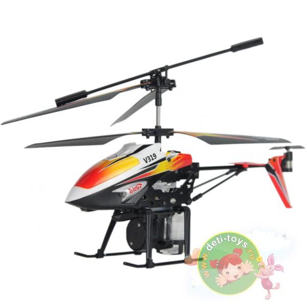 Радиоуправляемый вертолет с водяной пушкой