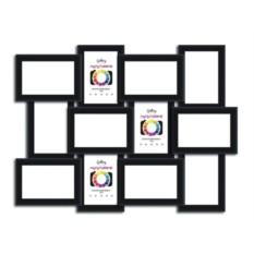 Чернаяя мультифоторамка на 12 фото Gallery 10х15