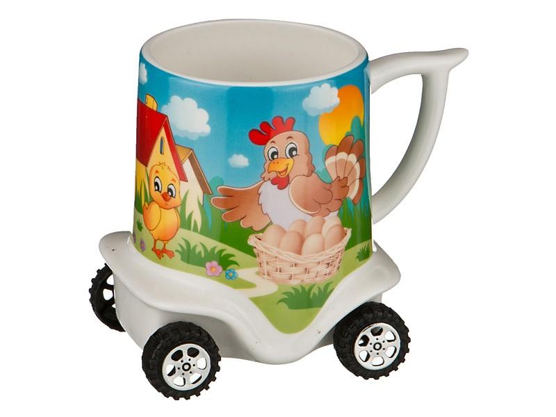 Кружка на колесиках Курица и цыпленок