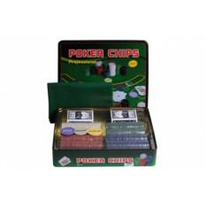 Набор для покера на 500 фишек в жестяной коробке