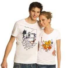 Парные футболки Рыболов, золотая рыбка