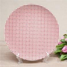 Именная тарелка Мини-сердечки
