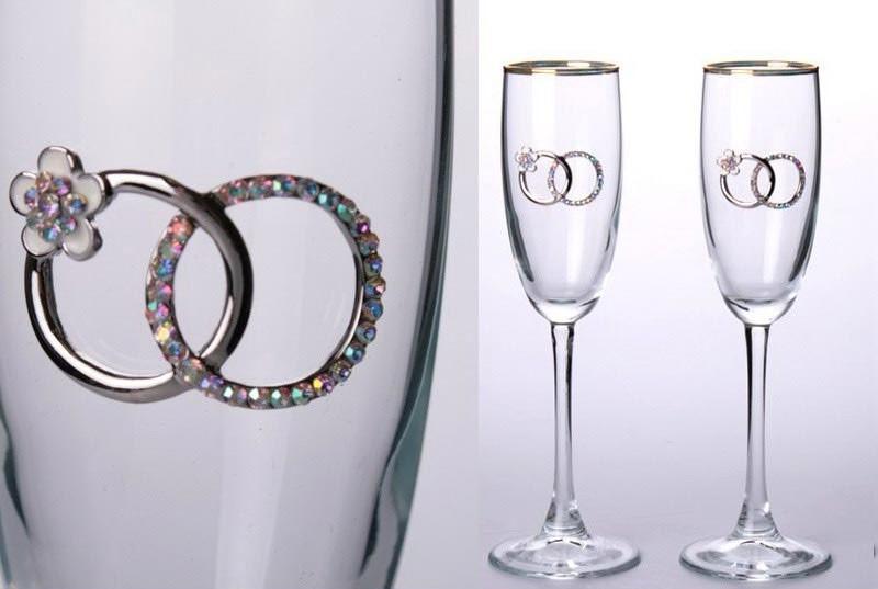 Набор бокалов для свадьбы