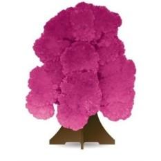 Волшебное дерево из кристаллов, розовое