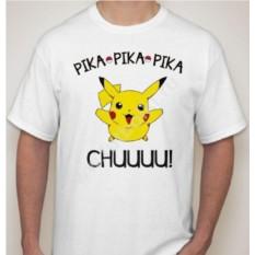 Мужская футболка с покемоном Pika pika pika chuuuuu