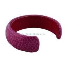 Женский браслет на руку из кожи змеи (цвет: фуксия)