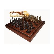 Шахматы Микеланджело, коричневая доска