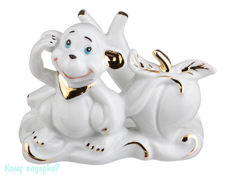 Салфетница «Обезьяна», белая