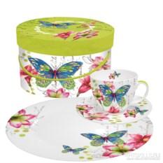 Чашка, блюдце, десертная тарелка в подарочной коробке Aporia