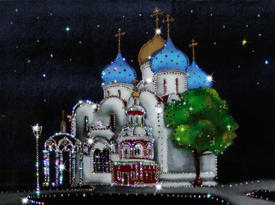 Картина Swarowski Успенский собор Троице-Сергиевой лавры