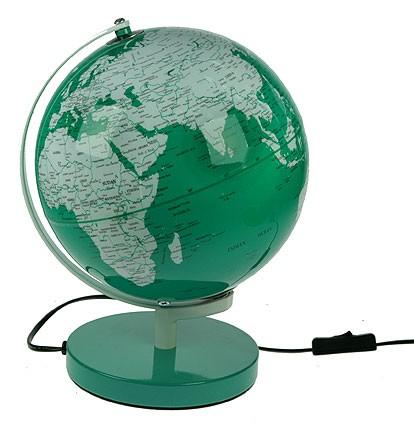 Настольный сувенир Глобус с подсветкой (зеленый)