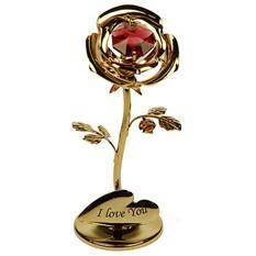 Фигурка декоративная Swarovski Роза красная