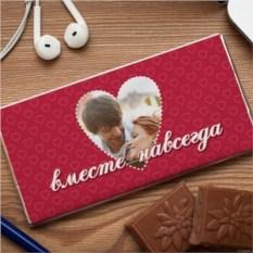 Шоколадная открытка Вместе навсегда
