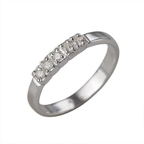 Серебряное кольцо со вставкой из фианитов
