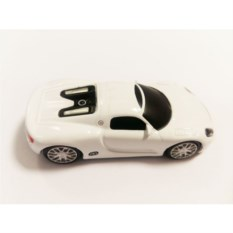 Флешка Белый автомобиль Porsche
