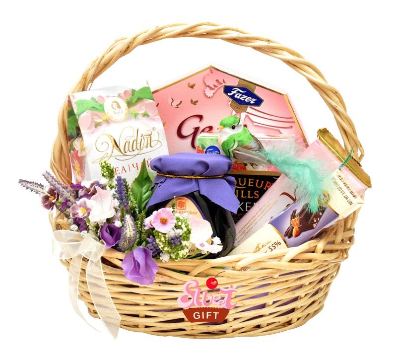 Доставка корзины с продуктами в подарок 65