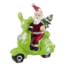 Фигурка Дед Мороз на скутере с елочкой (7 см)