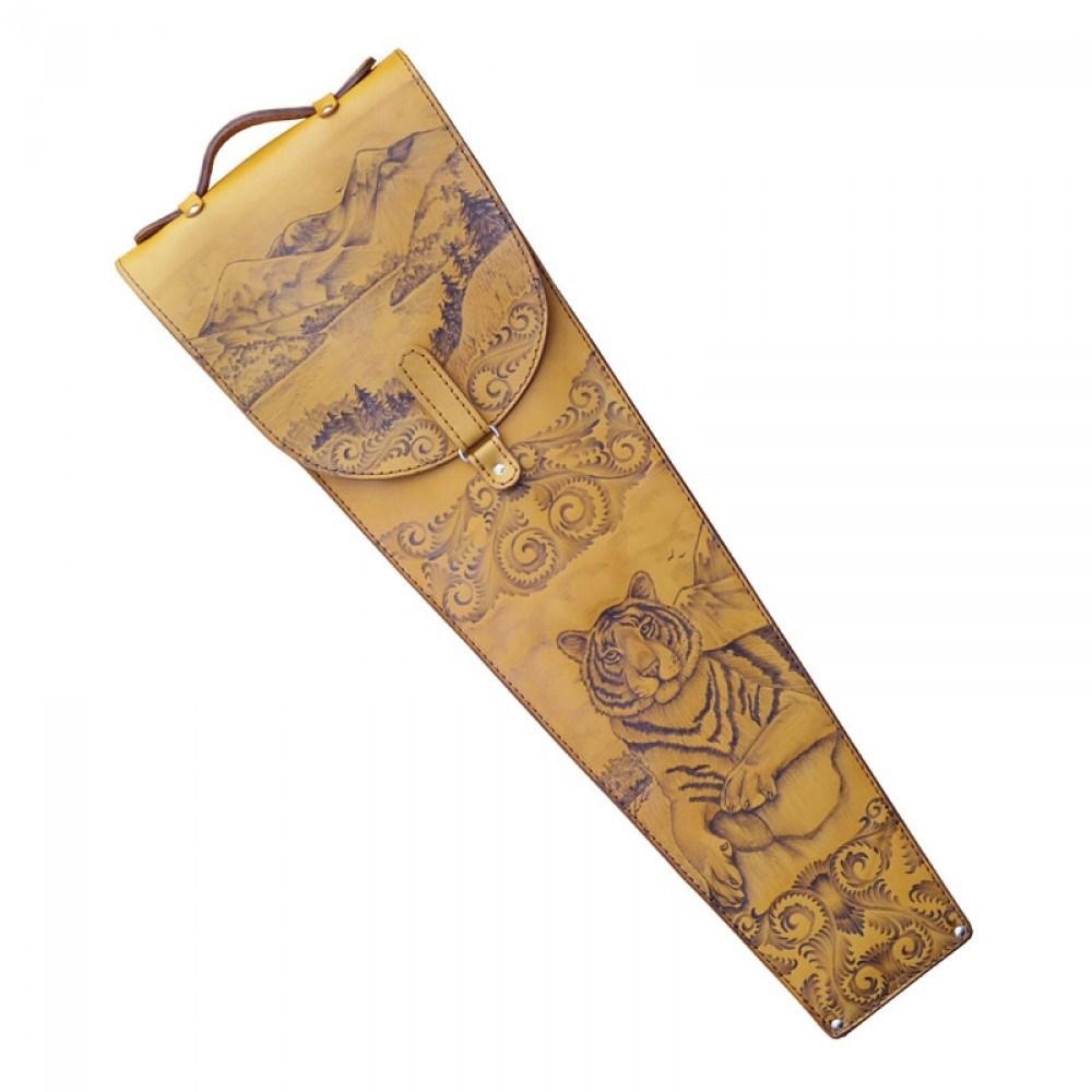 Подарочные шампура в колчане из кожи Амурский тигр