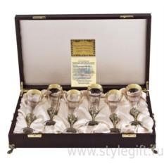 Набор из шести бокалов для шампанского Богемия Версаче