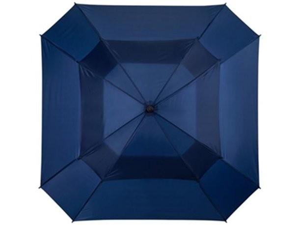 Зонт-трость с двойным куполом синего цвета