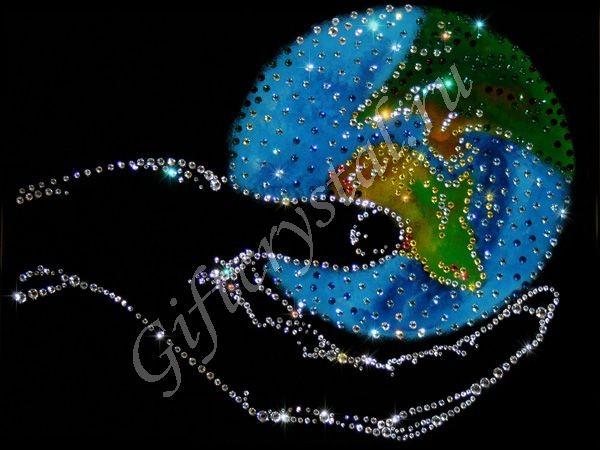 Картина с кристаллами Swarovski Мир в руке