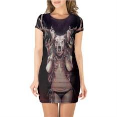 Платье с короткими рукавами Хранительница леса