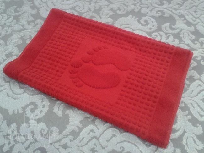 Полотенце для ног Winter, красное, 50х70 см