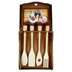 Коллаж-набор для кухонных принадлежностей Цветы