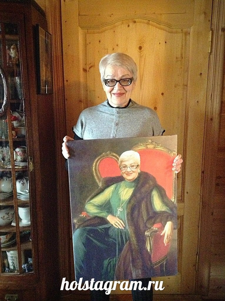 Печать портрета по фото на холсте Стандарт