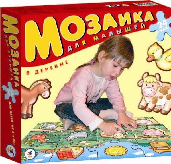 Мозаика для малышей В деревне (мега-пазл), Дрофа