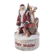 Светящееся украшение Дед Мороз с лесными жителями