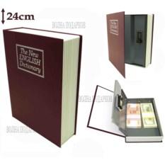 Книга-сейф с замком The new english dictionary bordo (24 см)