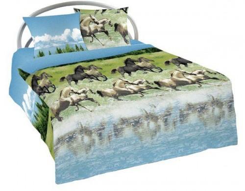 Комплект постельного белья Лошади (бязь)