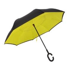 Желтый ветрозащитный зонт-наоборот Up Brella