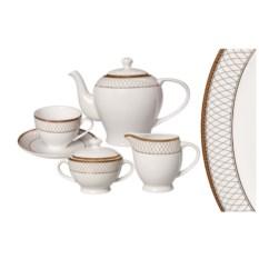 Чайный фарфоровый сервиз Искандер на 6 персон 15 предметов