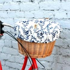 Плетеная корзина для велосипеда Гжель