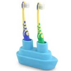 Голубой держатель для зубной щетки Boat