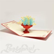Объемная открытка 3D Клумба с цветами