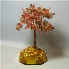 Дерево счастья из сардоникса на розочке