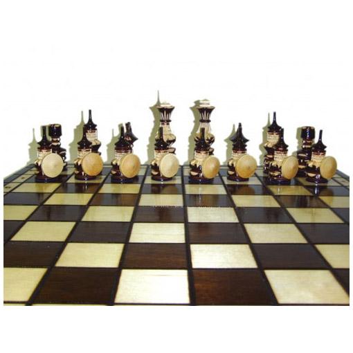 Шахматы «Серьёзные ребята», дерево, резьба