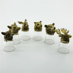 Набор рюмок-перевертышей с головами животных Лесные жители
