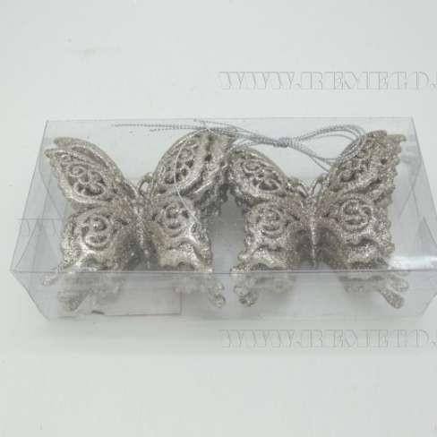 Набор из 6 новогодних украшений Бабочка