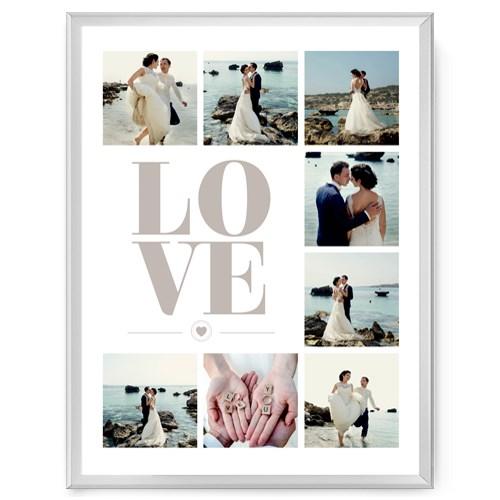 Фотопостер в рамке Love