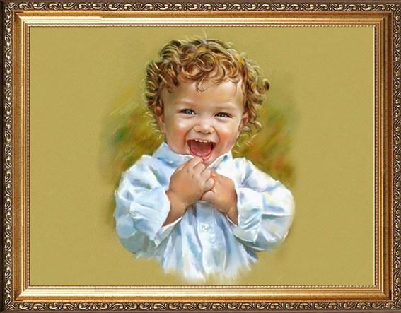 Красивый портрет мальчика 1,5-3 лет
