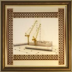 Картина с кристаллами Сваровски Строитель-2