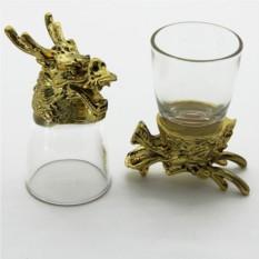 Набор рюмок-перевертышей с головами животных Дракон