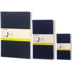 Синяя нелинованная записная книжка Moleskine Cahier