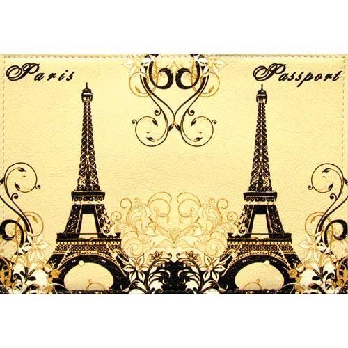 Обложка кожаная Paris на паспорт \ загранпаспорт